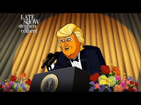 Thumbnail: Cartoon Donald Trump Dreads The White House Correspondents' Dinner