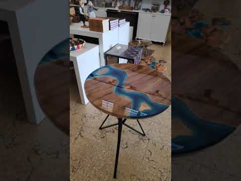 River table round Amazing Epoxy resin table - Agartha Workshop - ETSY
