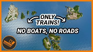 Islands with ONLY Trains & Planes! Cities: Skylines CHALLENGE