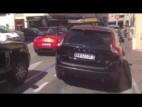 Paradise of Supercars - Streets of Croisette in Cannes
