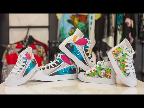 All Over Printing On Canvas Shoes with TexJet® echo
