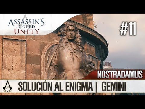 Assassin's Creed Unity   Guía en Español Walkthrough   Enigma Nostradamus   GEMINI   Solución