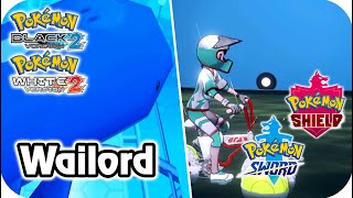 Pokémon Comparison : Watching Wailord (B2/W2 - SW/SH)