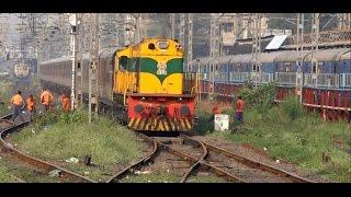 Repeat youtube video Rare Triple Capture Of World's Leading Luxury Train - Maharajas' Express In Mumbai !!!!