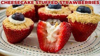 Cheesecake STUFFED Strawberries   The Starving Chef