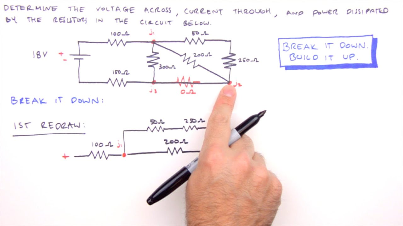 How To Solve Any Series And Parallel Circuit Problem Youtube Current Flows Through Them Heres An Example With Three