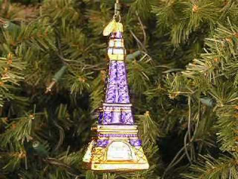 paris eiffel tower christmas ornament youtube