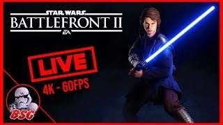 5 Days Till Ani! Star Wars Battlefront 2 PC and XB1X Gameplay | 4K Live Stream (4K 60FPS)