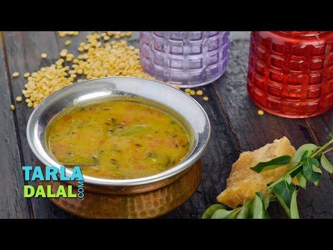 Gujarati Toovar Dal, Gujarati Tuvar Dal, Khatti Meethi Dal Recipe  By Tarla Dalal