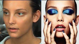 Pop Art Inspired Peacock Eye: Metallic Blue Eyeshadow Make-Up Tutorial | Charlotte Tilbury