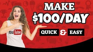 Make $100 Per Day On YouTube Without Making Any Videos  - Affiliate Marketing