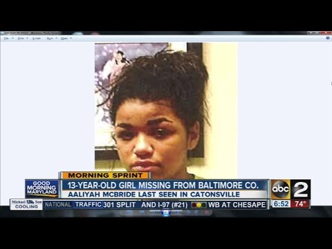 13-year-old girl missing from Baltimore County