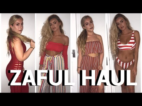 HUGE TRY ON ZAFUL HAUL   HONEST REVIEW   SYD AND ELL