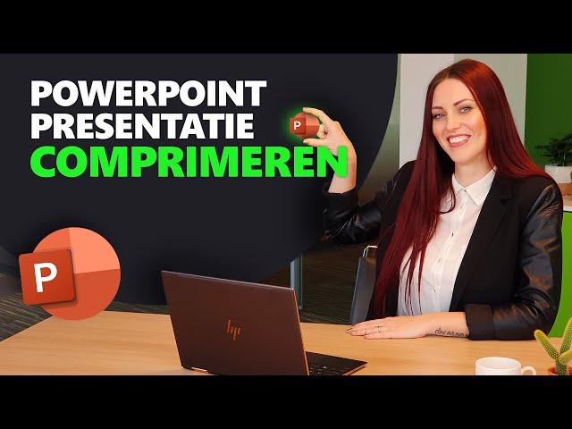 PowerPoint comprimeren of verkleinen | PowerPoint basics #22 | PPT Solutions