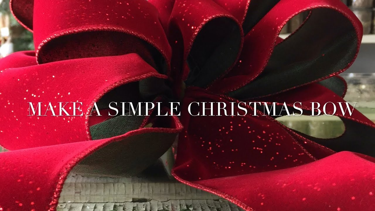 make a simple christmas bow