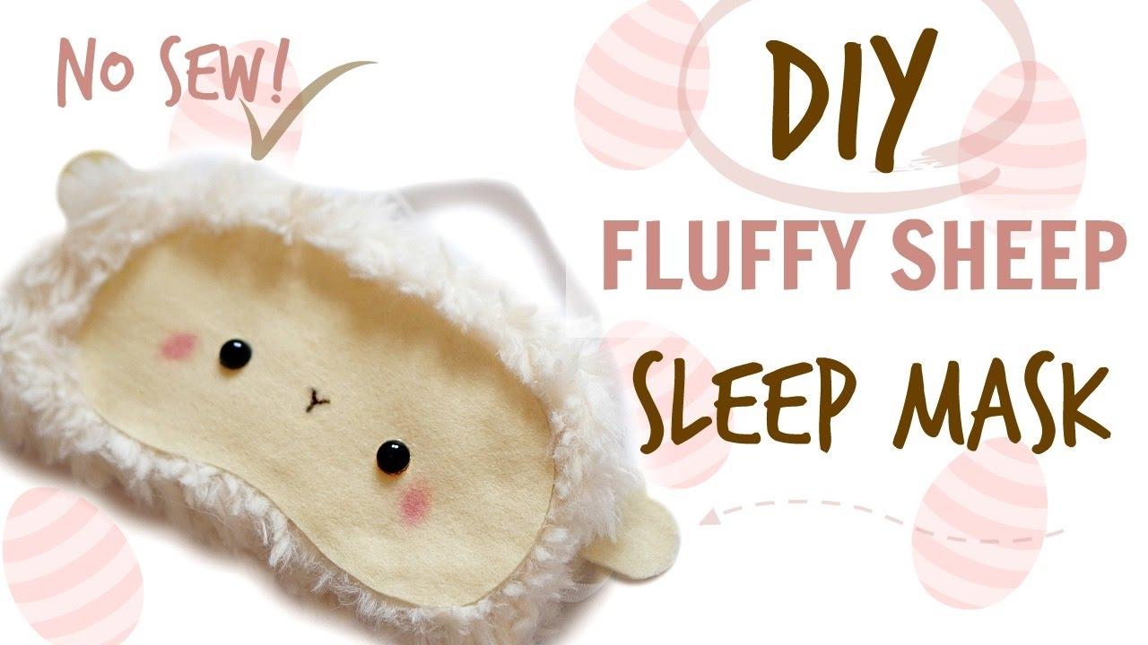 Diy Sheep Sleep Mask No Sew Easter Gift 2017