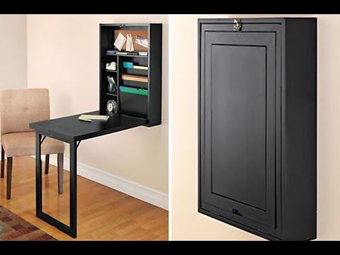 wall mounted fold down desk youtube rh youtube com flip down desk lid hardware flip down desk ikea