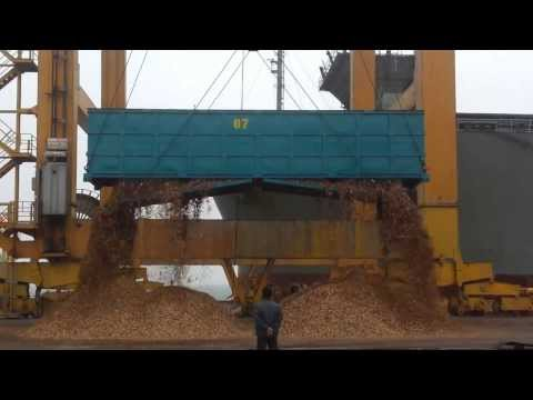 loading woodchip Ship