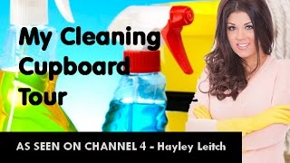 What's In My Cleaning Cupboard? Tour/  Re-arranging  Hayley Leitch