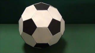「サッカーボール」折り紙