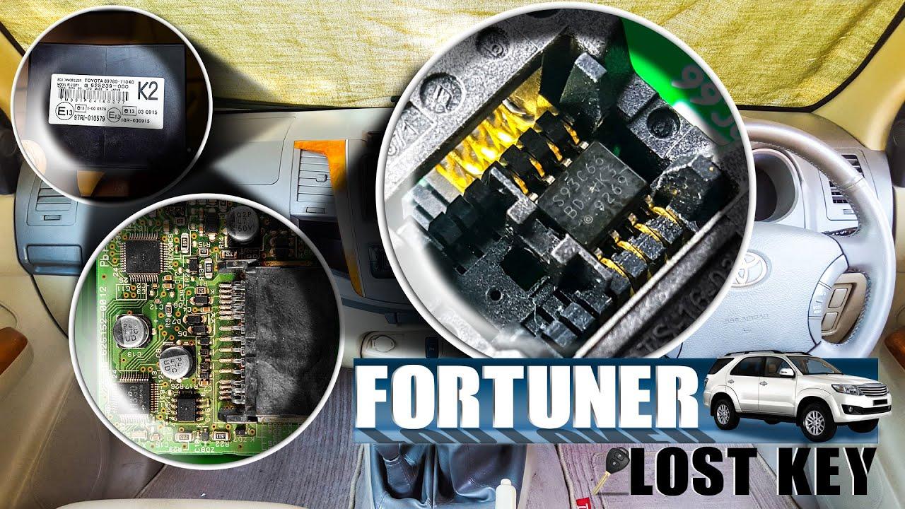 Toyota Fortuner Lost Key Making | Toyota G Chip key programmer | 93C66  EEPROM
