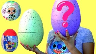 Giant Egg Surprise LOL Dolls Mickey Mouse Mashems Spiderman SHOPKINS Num Nums 3.1 Aladdin by FUNTOYS