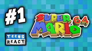 TEENS PLAY SUPER MARIO 64 - Part 1 (React: Twitch Let's Plays)