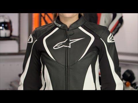 Alpinestars Jacket Leather >> Alpinestars Stella Jaws Leather Jacket Review at RevZilla.com - YouTube