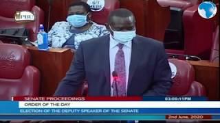Senate leader of the majority - Poghisio congratulates Kamar as Deputy Speaker-elect