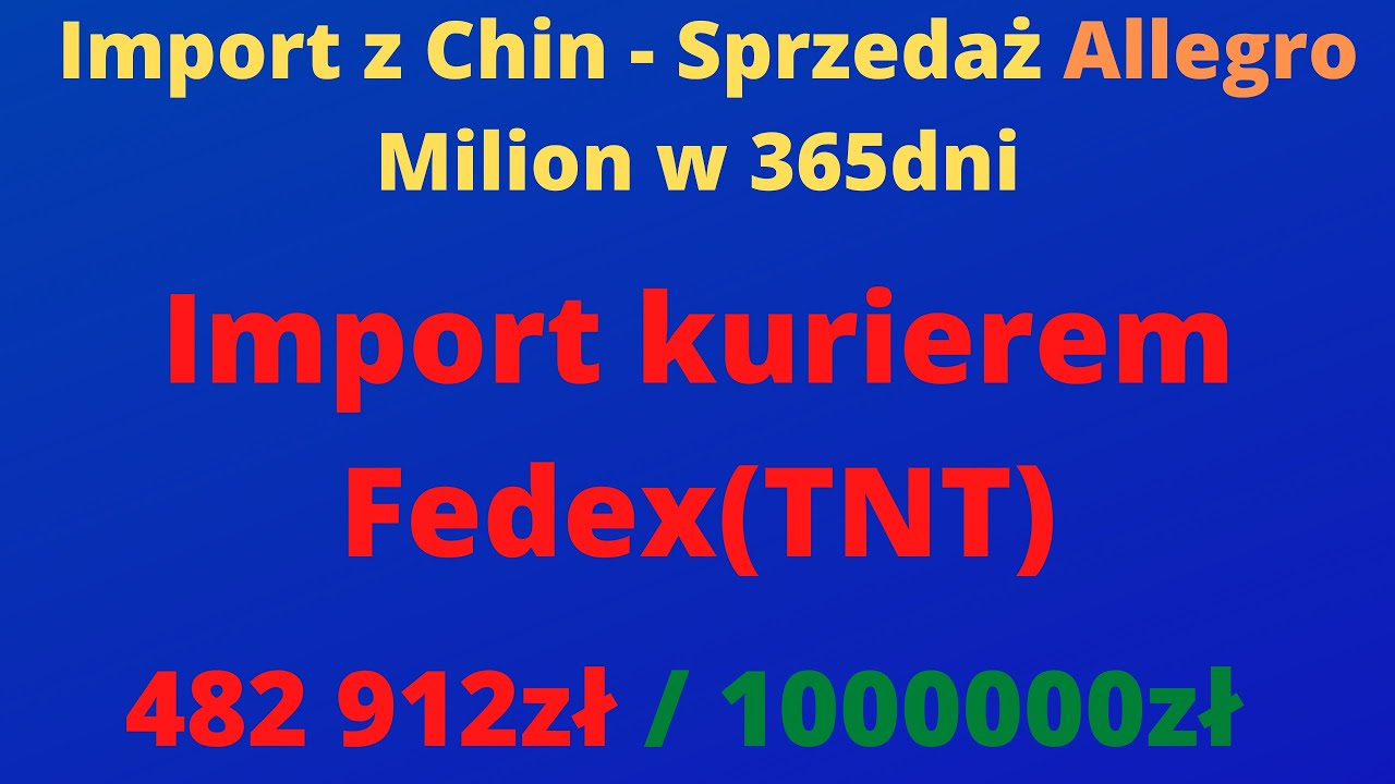 Dzien 324 Import Z Chin Kurier Fedex Moja Opinia Youtube