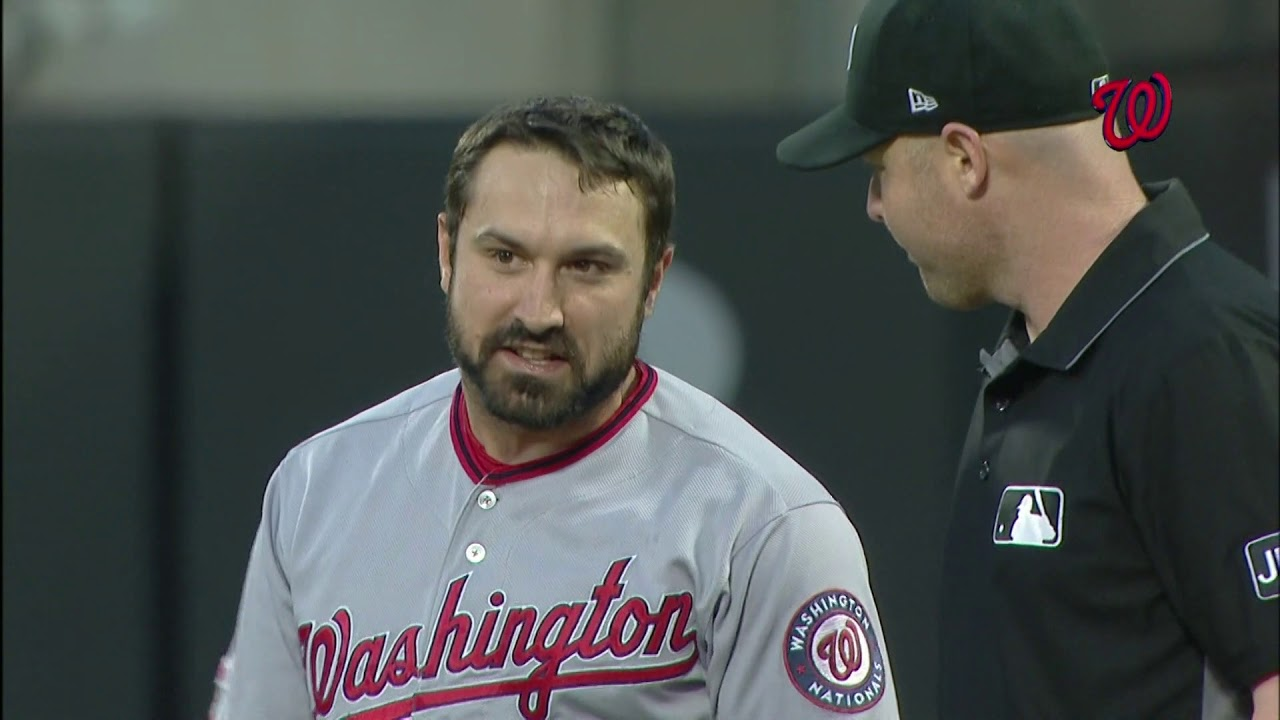 Adam Eaton And Todd Frazier Chat On Field Before Game