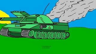 How To Draw A Tank In MS Paint