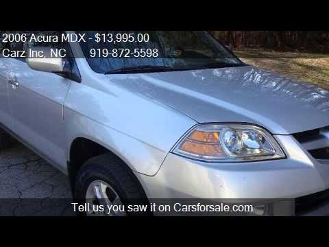 2006 acura mdx touring awd 4dr suv for sale in raleigh nc youtube. Black Bedroom Furniture Sets. Home Design Ideas