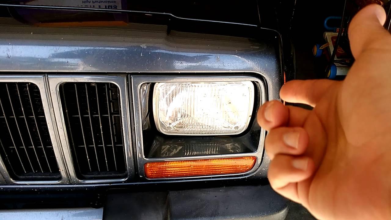 hight resolution of jeep xj headlight upgrade