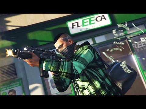 GTA 5 Real Life Thug Mod #18 - ROBBING FLEECA BANKS & LIFEINVADER HEIST!! (GTA 5 Mods Gameplay)