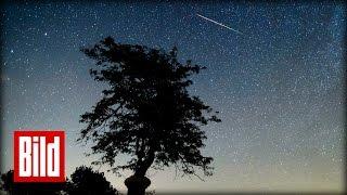 Sterne regnen vom Himmel - Tolle Meteoriten-Nacht ( Sommer / Sicht / Perseiden / NASA )