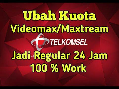 Cara Mengubah Kuota Maxtream-Videomax Menjadi Reguler