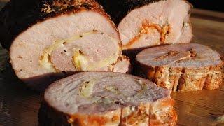 Smoked Stuffed Pork Sirloin Roast