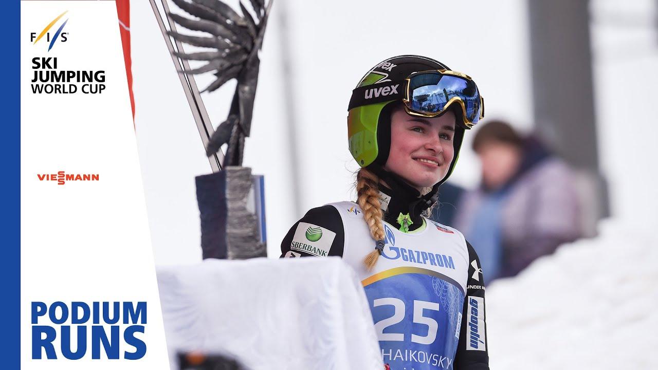 contenido Bolsa Porcentaje  Nika Kriznar | Ladies' Large Hill | Chaikovsy | BBT | 3rd place | FIS Ski  Jumping - YouTube