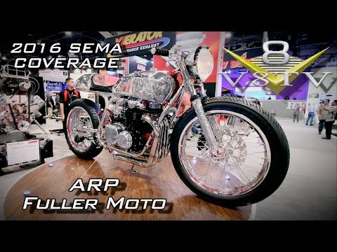 Bryan Fuller Moto Shogun Motorcycle in ARP SEMA Display 2016 V8TV Video