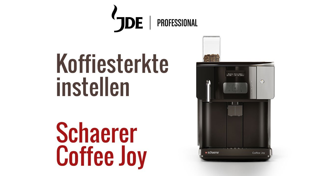 koffie sterkte schaerer coffee joy jacobs douwe egberts professional youtube. Black Bedroom Furniture Sets. Home Design Ideas