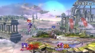 Smash 4   UA vs SHS Crew Battle Rudy(Sonic) vs Grunk(Captain Falcon)