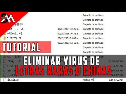 Como Eliminar el Virus de letras raras y chinas
