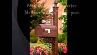 Personalized Decorative Mailboxes - Alabama Metal Art.wmv