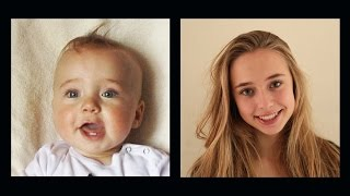 Repeat youtube video Portrait of Lotte, 0 to 16 years in 4 ½ minutes.