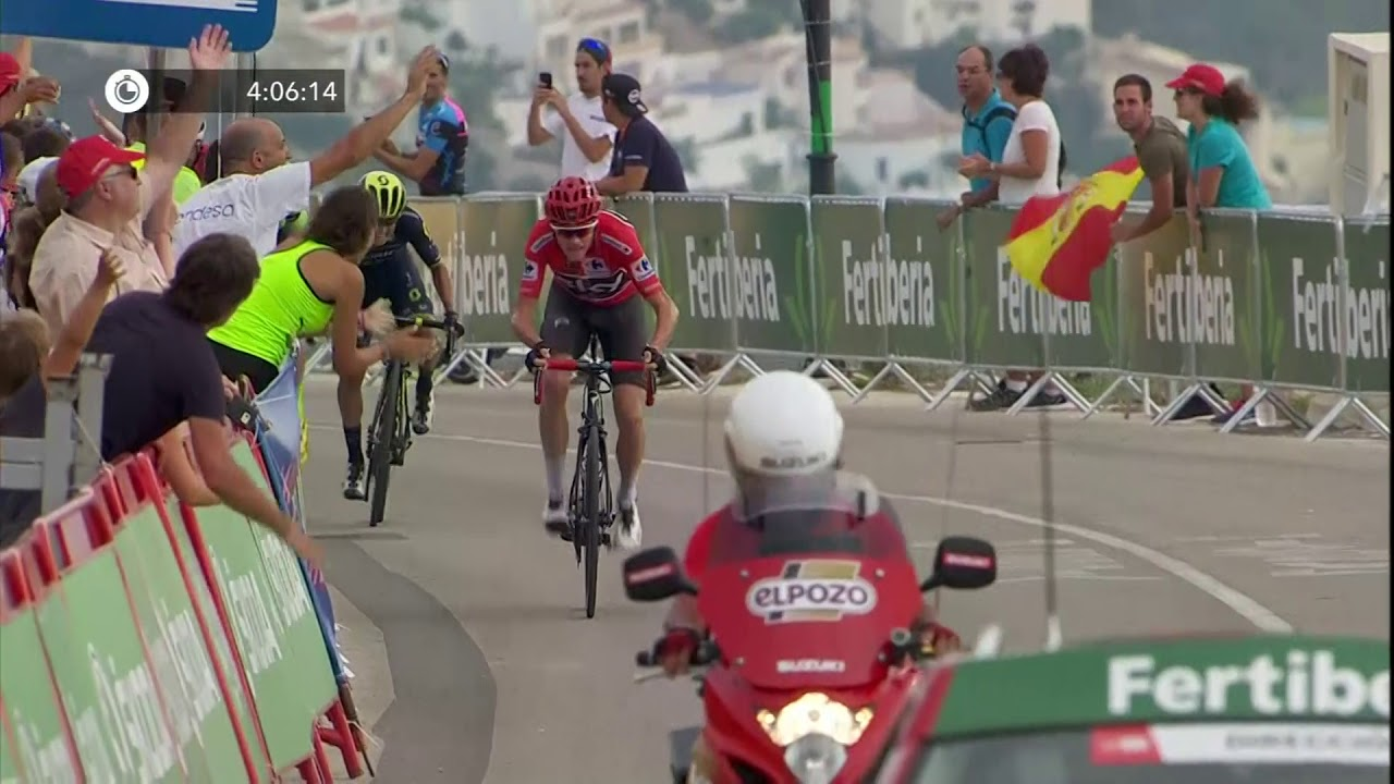 Froome Attacks Stage 9 La Vuelta 2017 Youtube