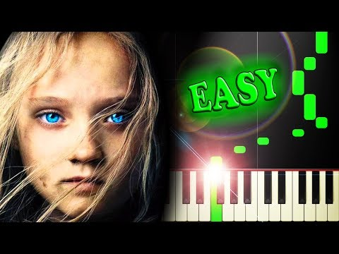 I DREAMED A DREAM from LES MISERABLES - Easy Piano Tutorial