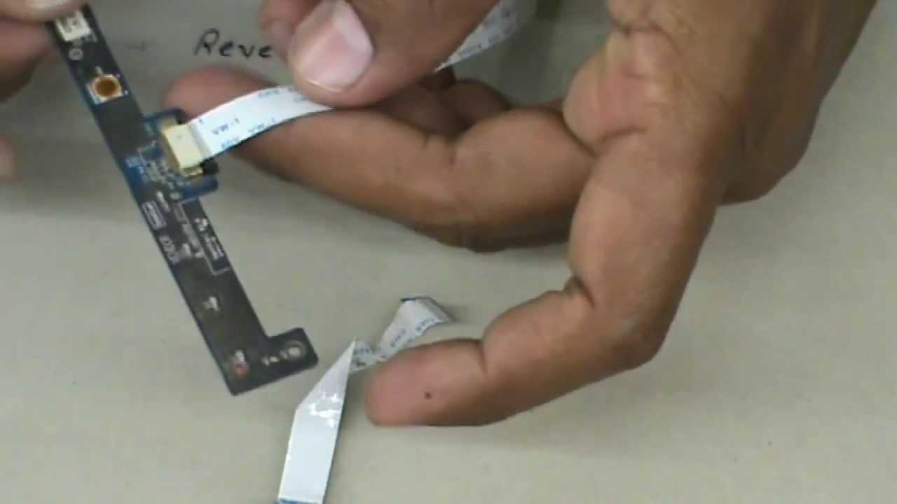 laptop power button ribbon cable [ 1280 x 720 Pixel ]