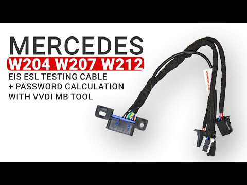 Mercedes W204 W207 W212 Testing Cable + Password Calculation With VVDI MB Tool