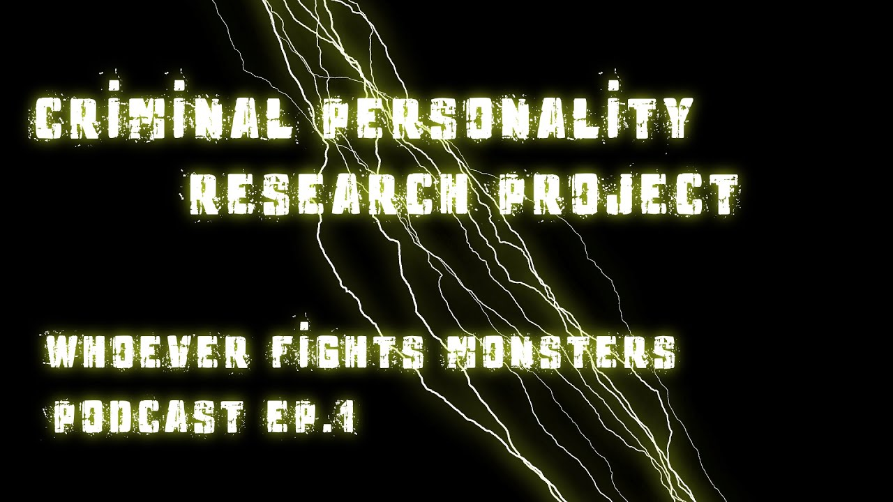 ep the criminal personality research project ep 1 the criminal personality research project